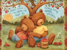 Papel de parede Ursos Namorados