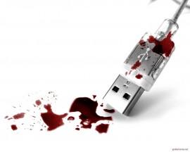 Papel de parede USB Sangrento