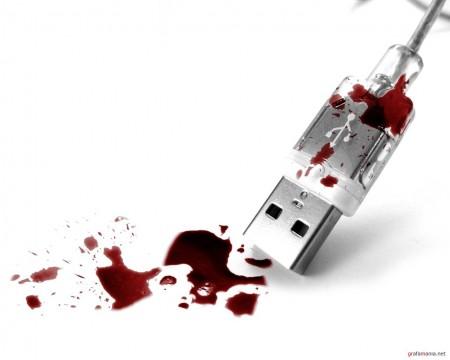 Papel de parede USB Sangrento para download gratuito. Use no computador pc, mac, macbook, celular, smartphone, iPhone, onde quiser!