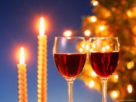 Papel de parede Vinho – No Natal