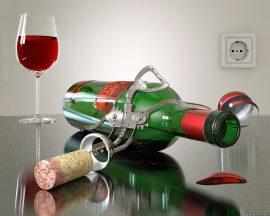Papel de parede Vinho – Saca-Rolha