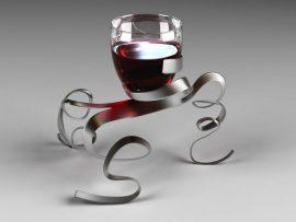 Papel de parede Vinho – Taça Criativa