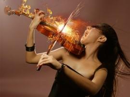 Papel de parede Violinista Vigorosa
