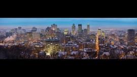 Papel de parede Vista do Crepúculo – Montreal, Canadá