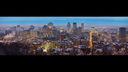 Papel de parede Vista do Crepúculo – Montreal, Canadá para download gratuito. Use no computador pc, mac, macbook, celular, smartphone, iPhone, onde quiser!