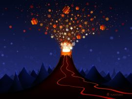 Papel de parede Vulcão Natalino