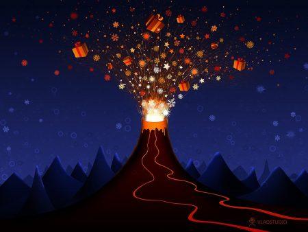 Papel de parede Vulcão Natalino para download gratuito. Use no computador pc, mac, macbook, celular, smartphone, iPhone, onde quiser!
