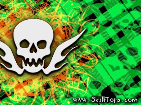 Papel de parede Xadrez Verde com Caveira para download gratuito. Use no computador pc, mac, macbook, celular, smartphone, iPhone, onde quiser!